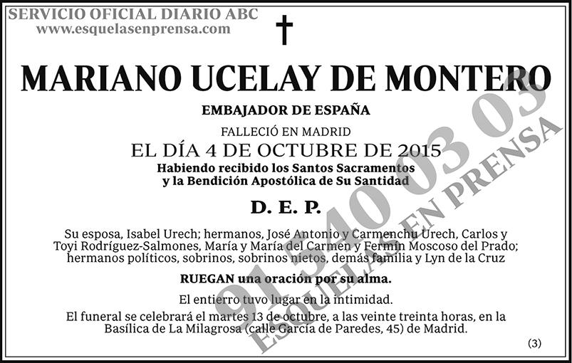 Mariano Ucelay de Montero